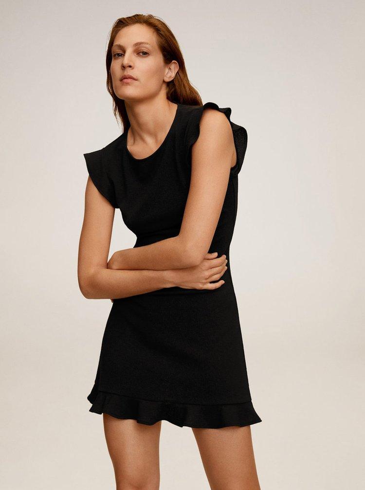 Černé šaty Mango Tulipan