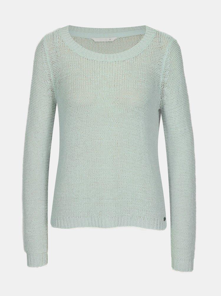 Svetlozelený priesvitný pletený sveter ONLY Geena