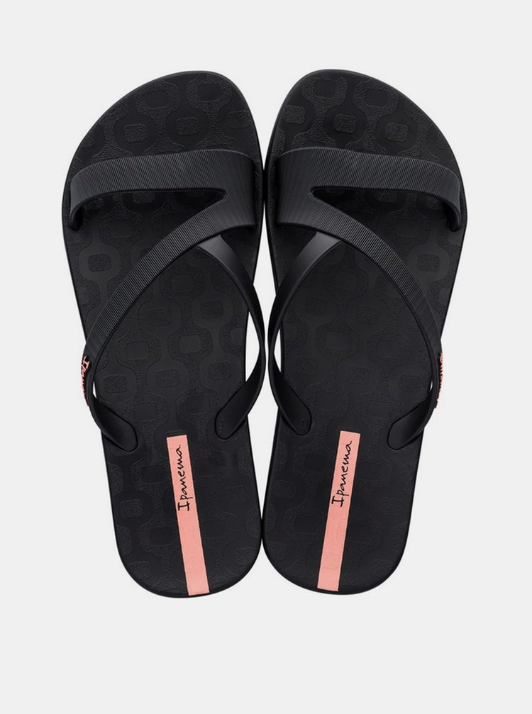 Černé dámské pantofle Ipanema