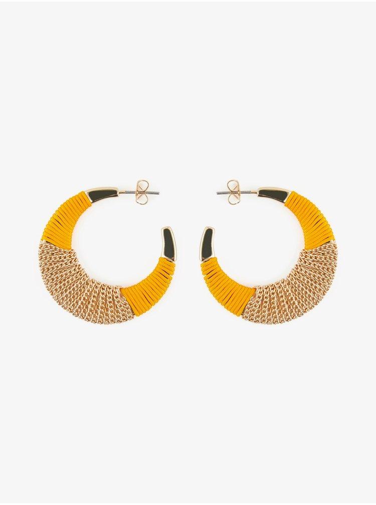 Cercei pentru femei Pieces - auriu, galben