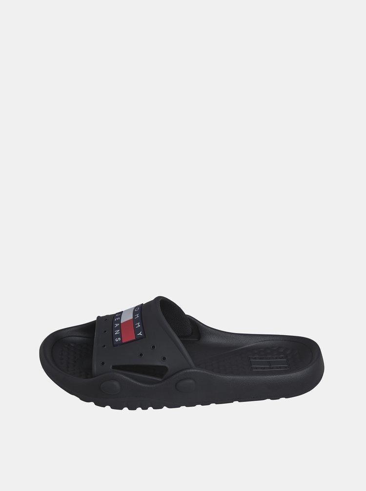 Černé pánské pantofle Tommy Hilfiger