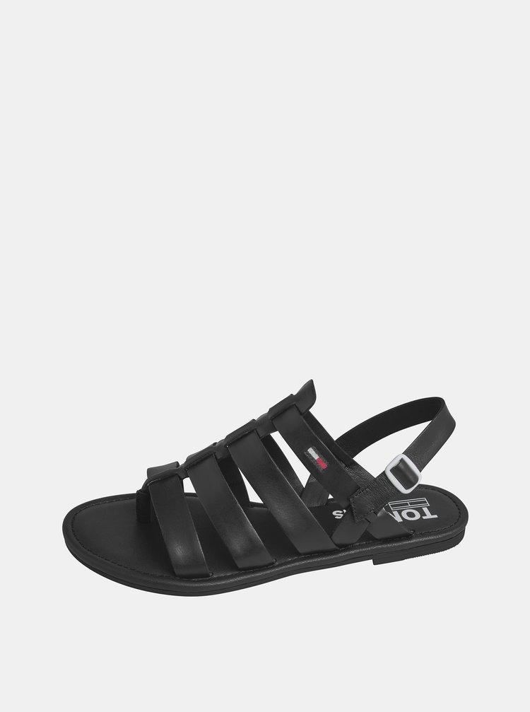 Sandale pentru femei Tommy Hilfiger - negru