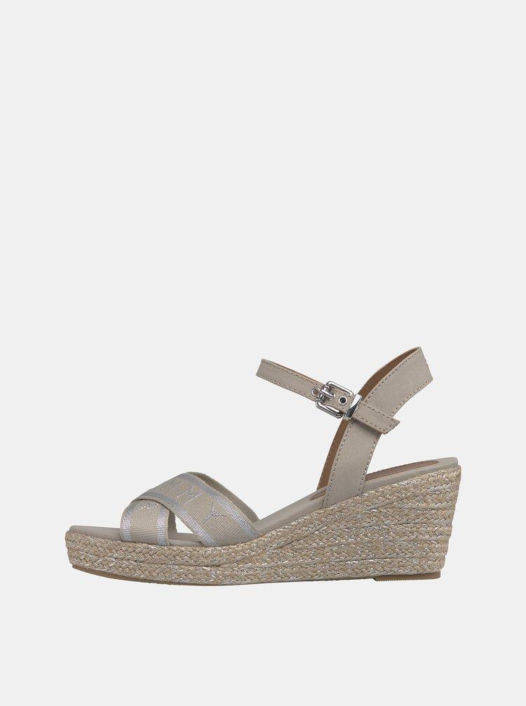 Krémové dámské sandálky Tommy Hilfiger