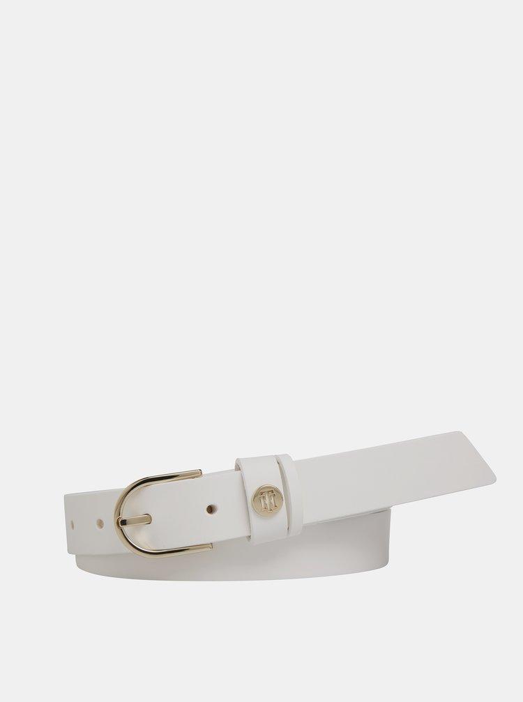 Bílý dámský kožený pásek Tommy Hilfiger