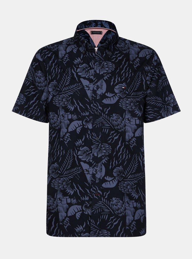 Tmavě modrá pánská květovaná košile Tommy Hilfiger