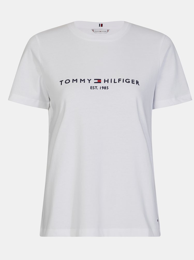 Biele dámske tričko s potlačou Tommy Hilfiger