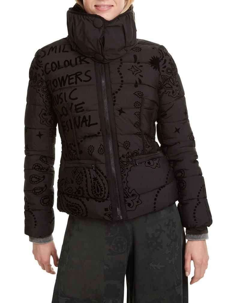 Desigual černá bunda Padded Sunna