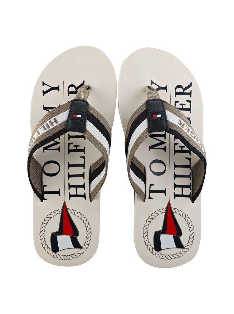 Tommy Hilfiger bílé pánské žabky Maritime Beach Sandal