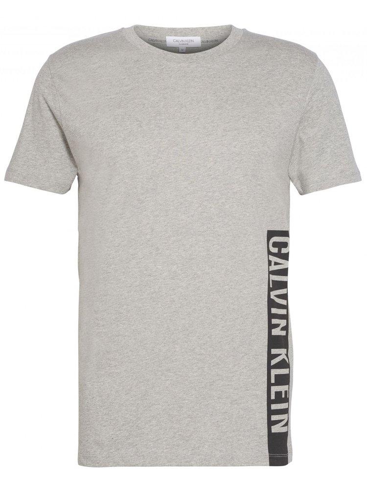 Calvin Klein šedé pánské tričko Relaxed Crew Tee