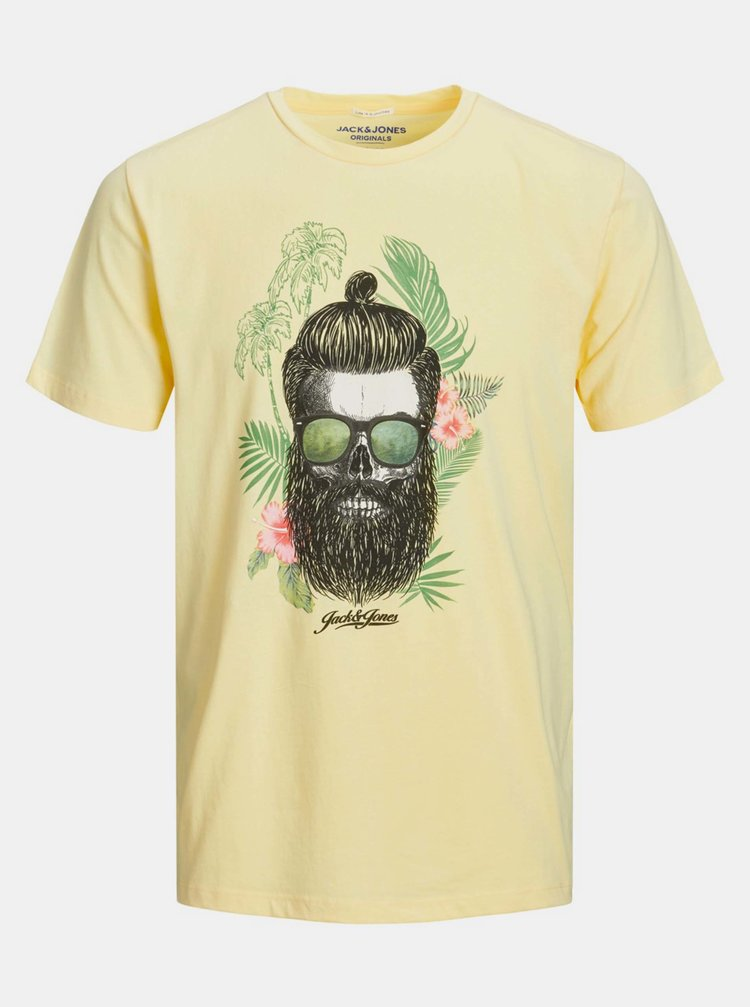 Žlté tričko Jack & Jones Ricky