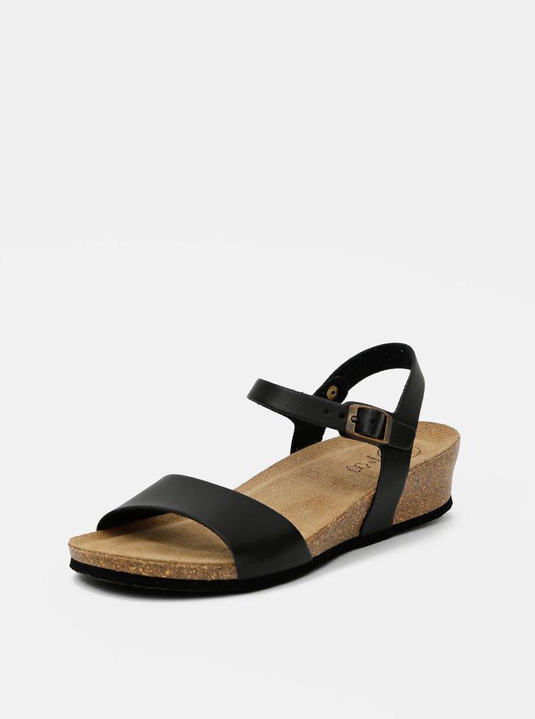 Čierne dámske sandálky OJJU