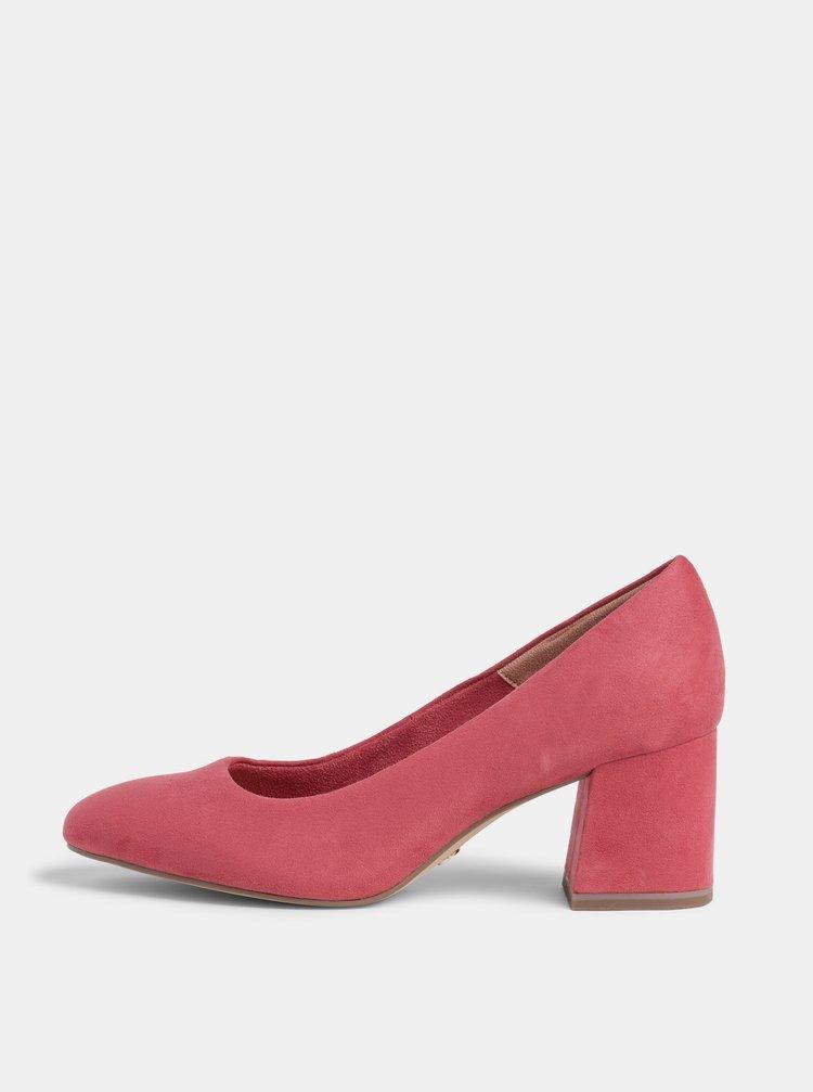 Pantofi cu toc pentru femei Tamaris - roz