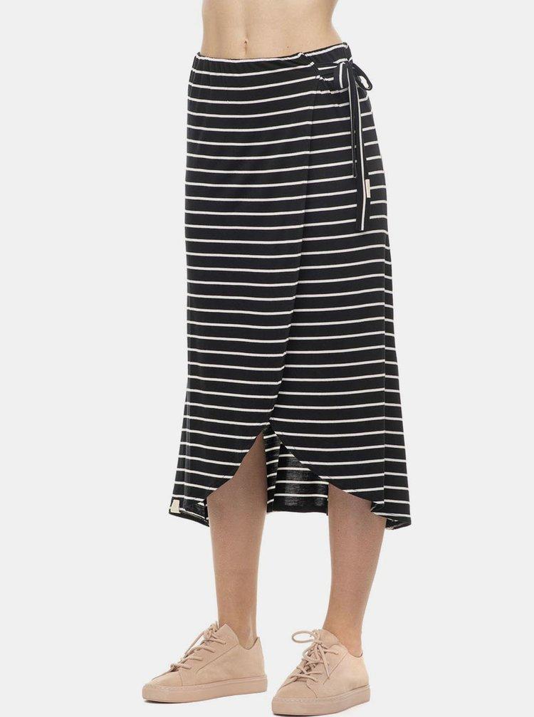 Černá pruhovaná midi sukně Ragwear Adelka