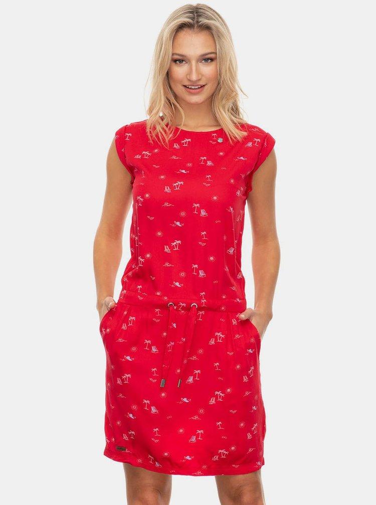 Červené vzorované šaty Ragwear Mascarpone