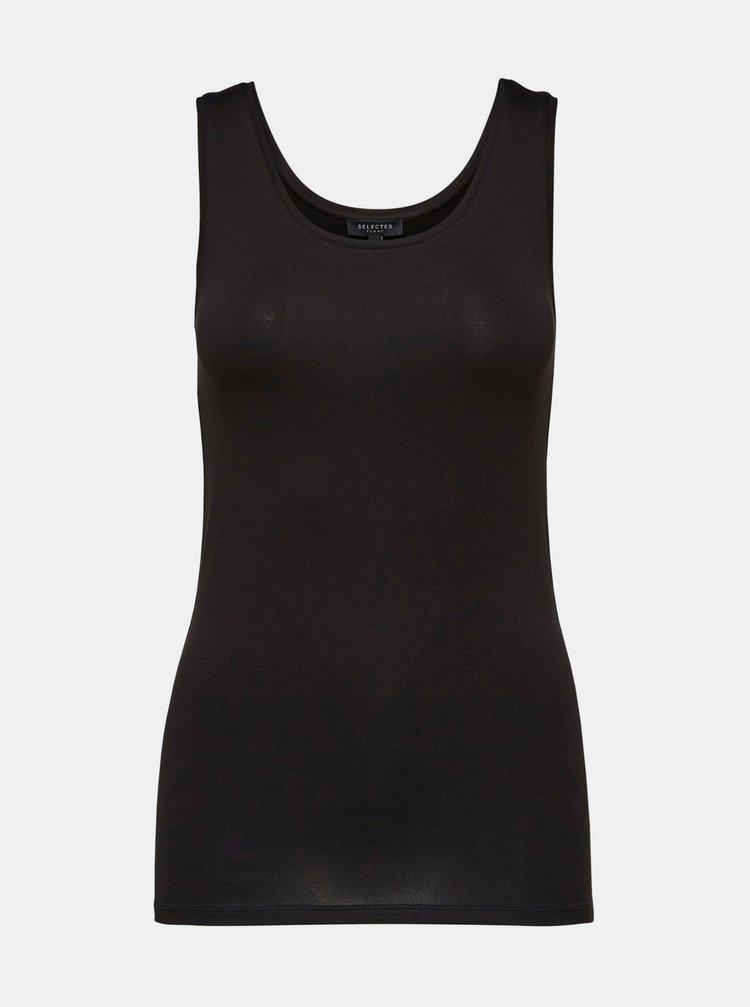 Černé basic tílko Selected Femme Mio