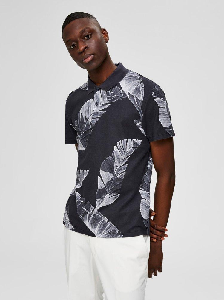 Černá vzorovaná košile Selected Homme