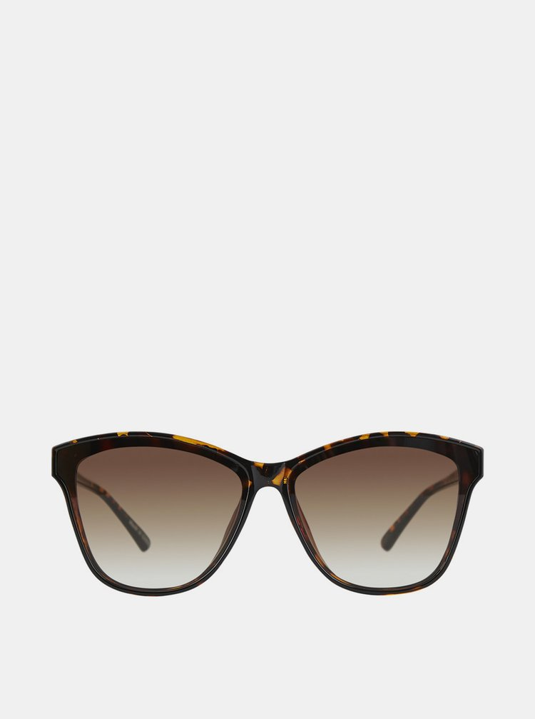Hnědé vzorované sluneční brýle Pieces Maryann