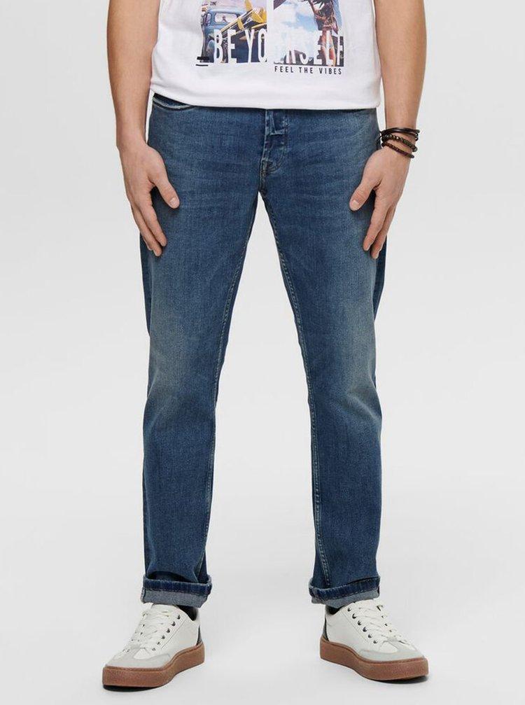 Modré regular fit džíny ONLY & SONS Weft