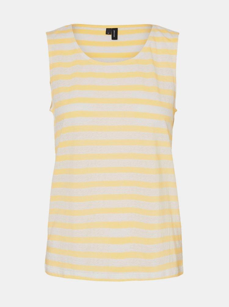 Topuri si tricouri pentru femei VERO MODA - galben