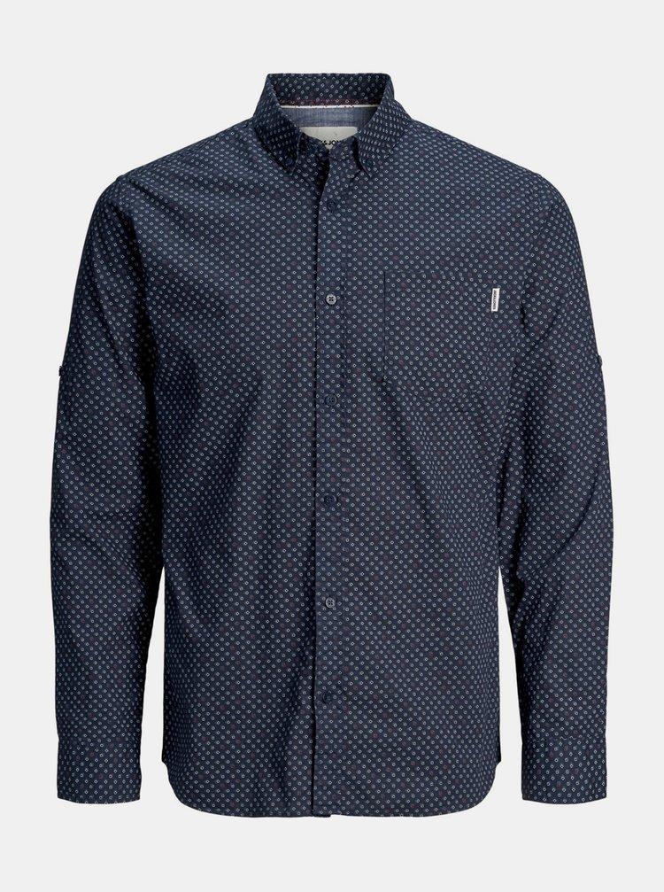 Tmavě modrá vzorovaná košile Jack & Jones Patrick