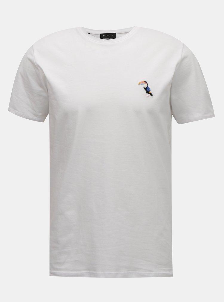 Bílé tričko Selected Homme