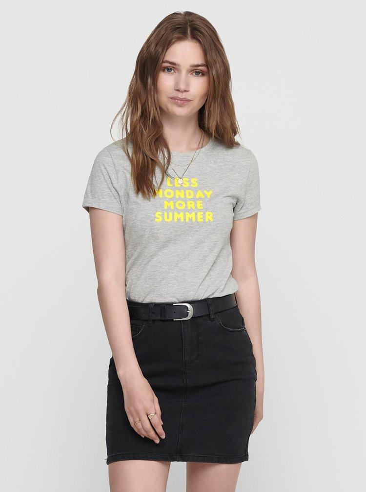 Tricouri pentru femei ONLY - gri