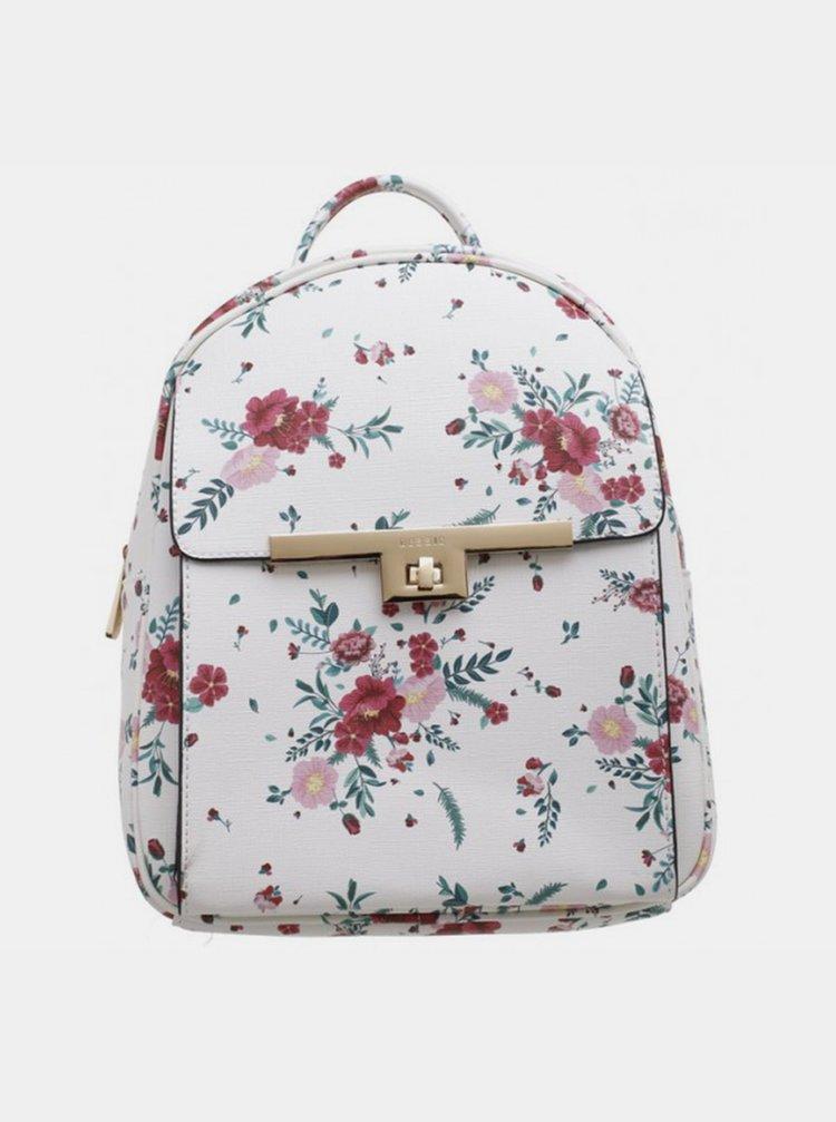 Bílý květovaný batoh Bessie London