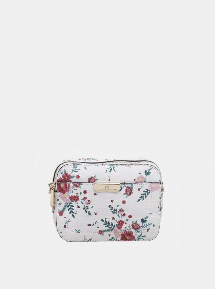 Biela kvetovaná kabelka Bessie London