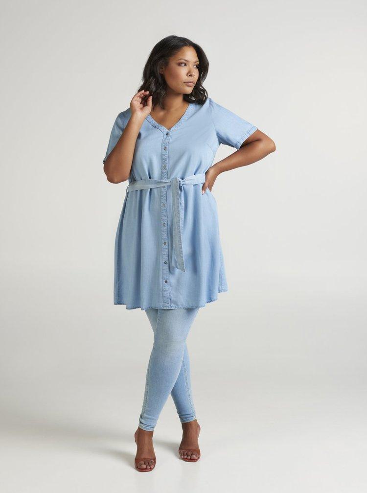 Světle modré šaty Zizzi