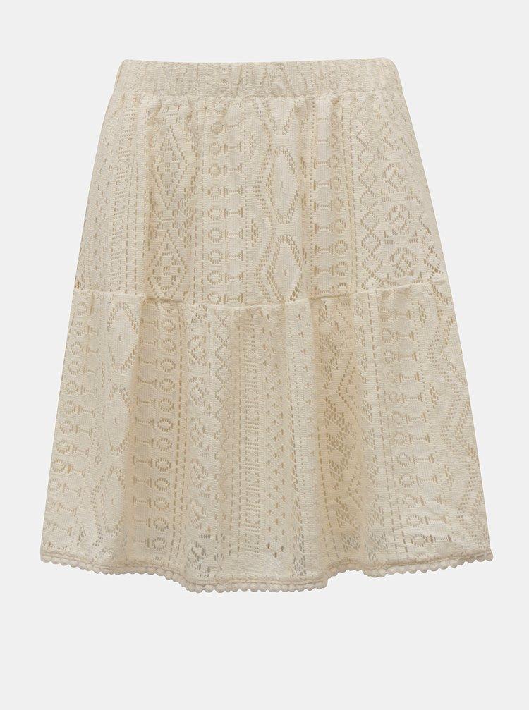 Krémová krajková sukně VERO MODA Lea