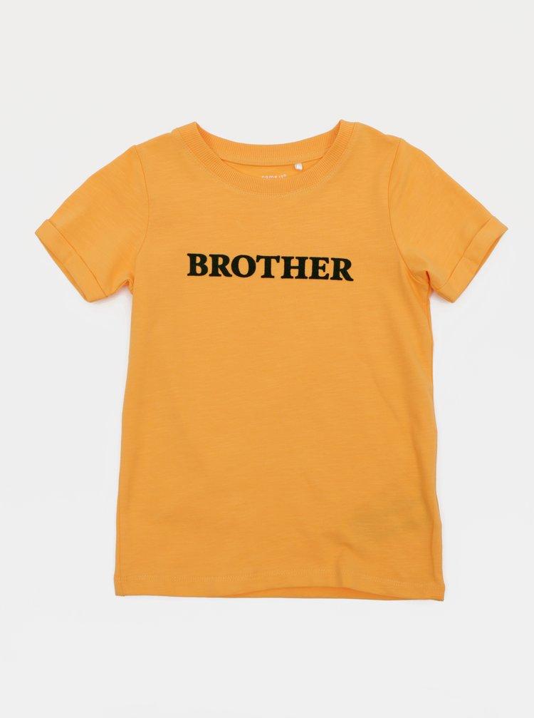 Oranžové klučičí tričko name it