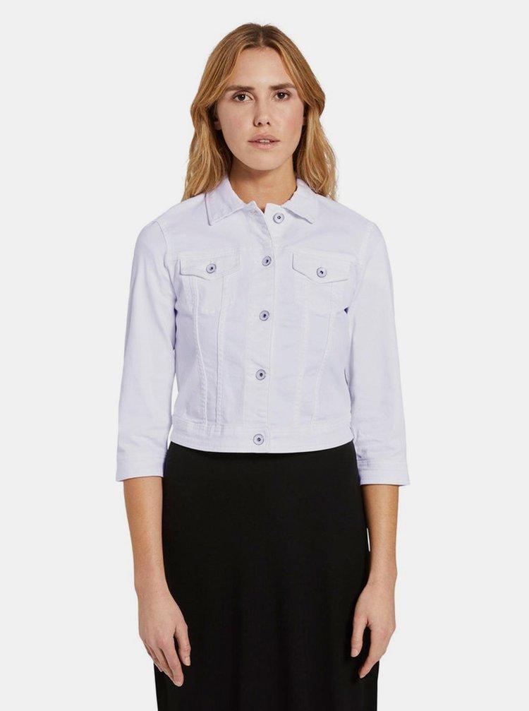 Jachete din denim pentru femei Tom Tailor - alb