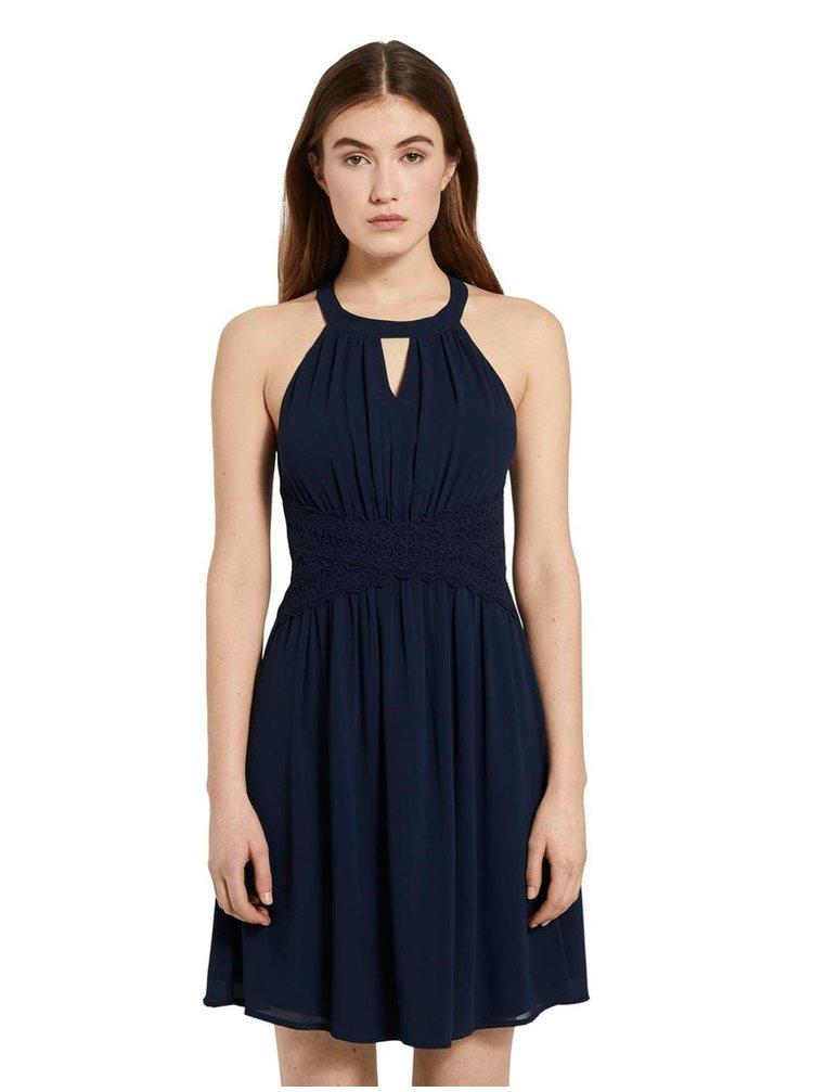 Tmavomodré dámske šaty Tom Tailor Denim