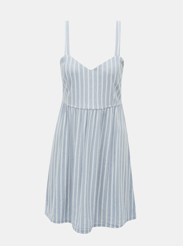 Světle modré pruhované šaty ONLY Sharon