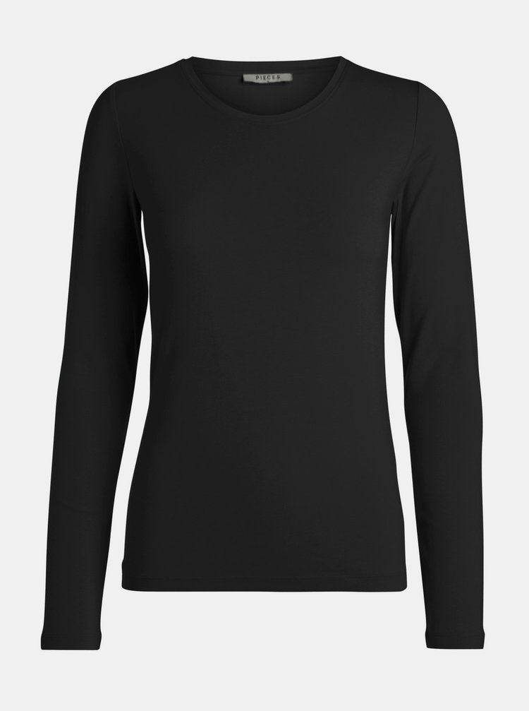 Černé basic tričko Pieces Sirene