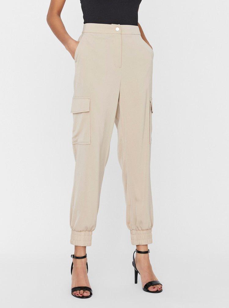 Pantaloni chino pentru femei VERO MODA - bej