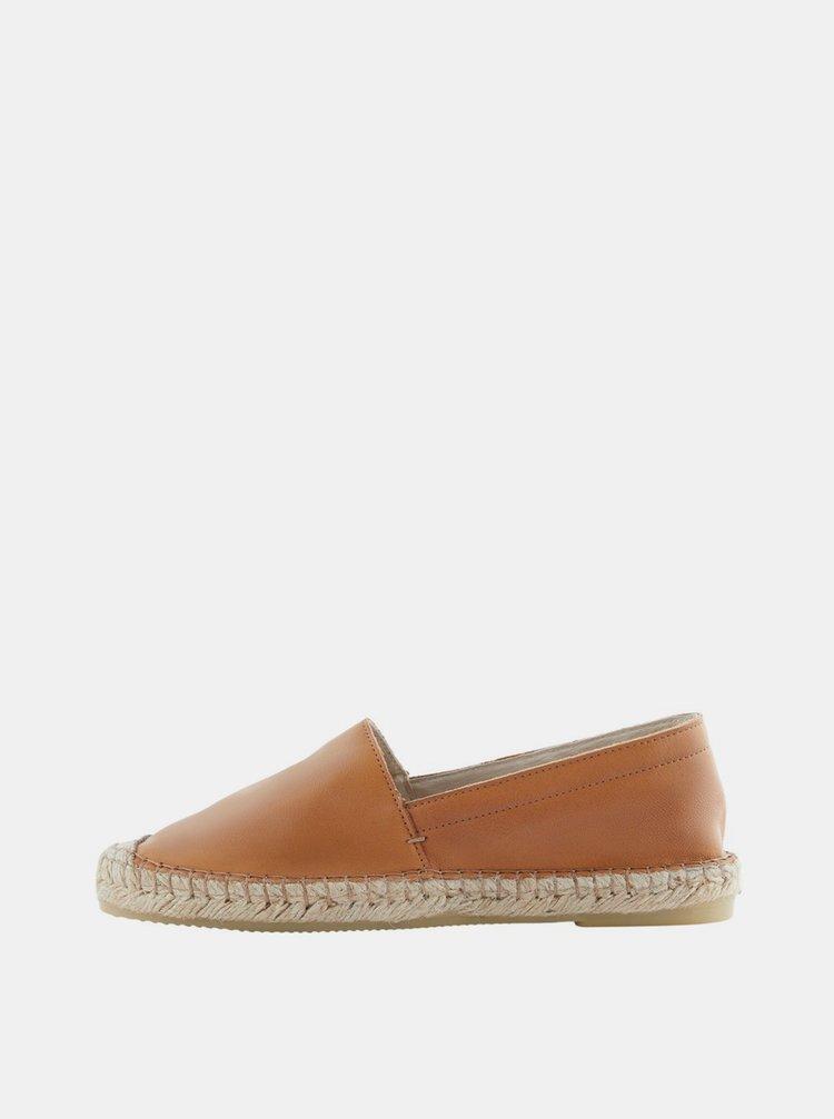 Espadrille, pantofi slip-on pentru femei Pieces - maro
