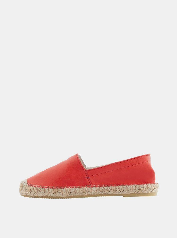 Espadrille, pantofi slip-on pentru femei Pieces - rosu