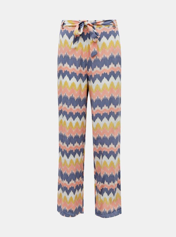 Žluto-modré vzorované kalhoty ONLY Nova