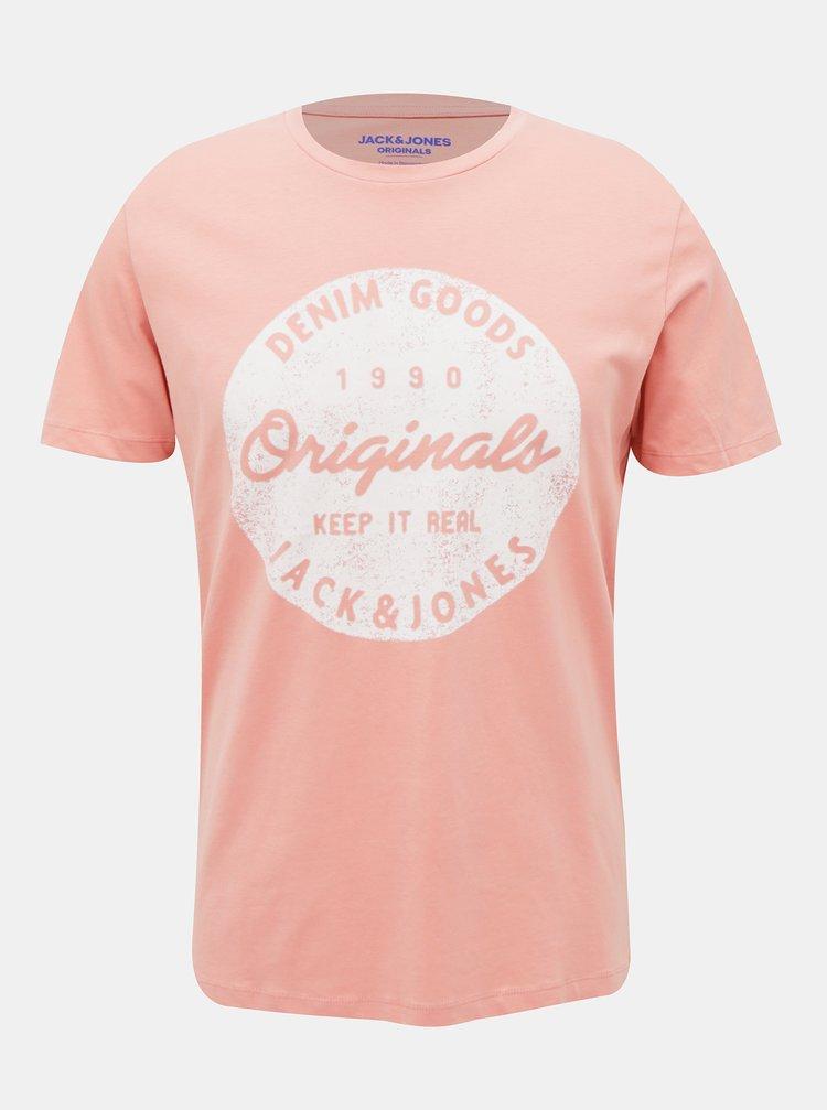 Růžové tričko Jack & Jones Torino