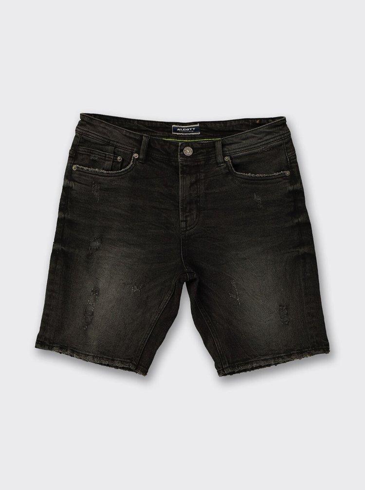 Černé džínové kraťasy Alcott