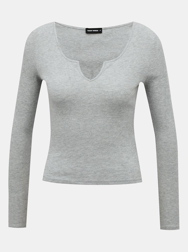 Šedé dámské tričko TALLY WEiJL