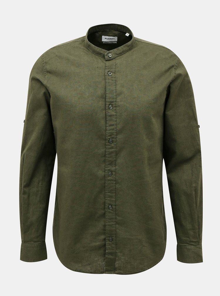 Tmavě zelená pánská košile Alcott
