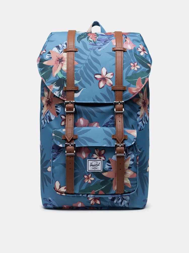Modrý květovaný batoh Herschel Supply Little America 25 l
