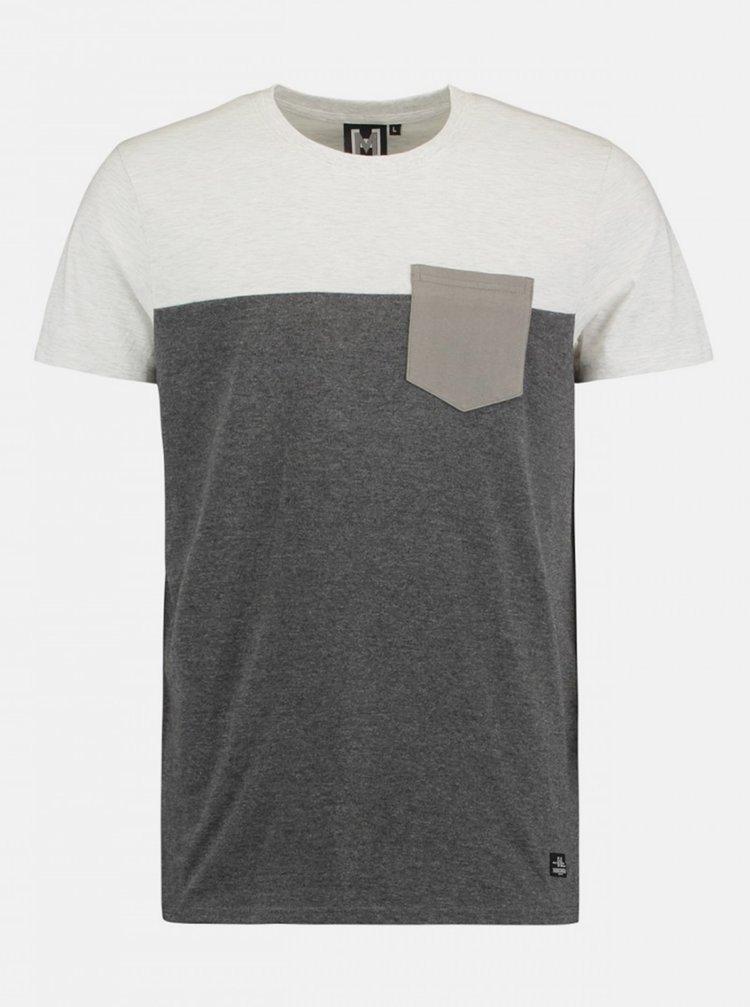 Tricouri pentru barbati Hailys - gri inchis, gri deschis