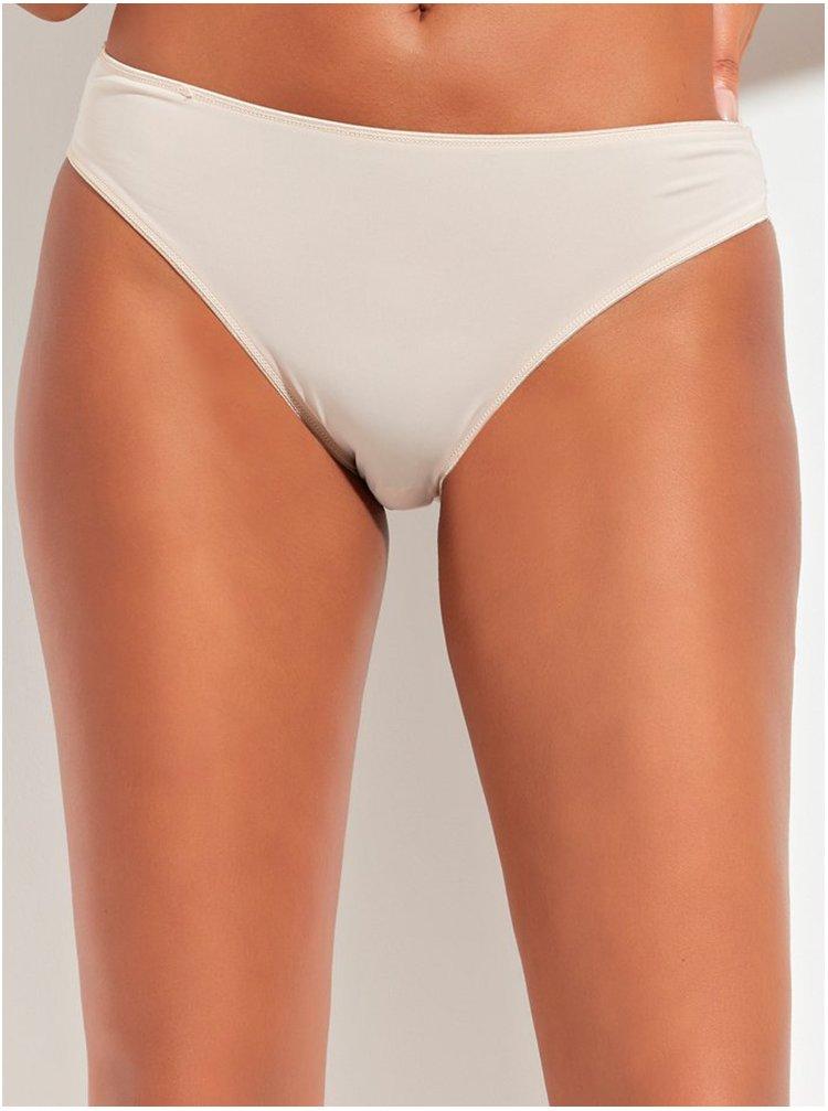 Béžové kalhotky s krajkovým lemem M&Co