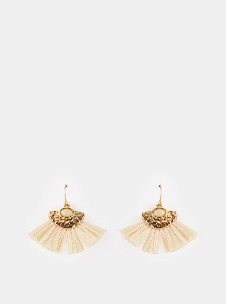 Náušnice v krémovo-zlatej farbe Pieces Melissa