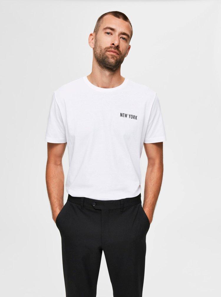 Tricouri pentru barbati Selected Homme - alb