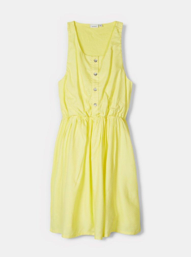 Žluté holčičí šaty name it Haysha