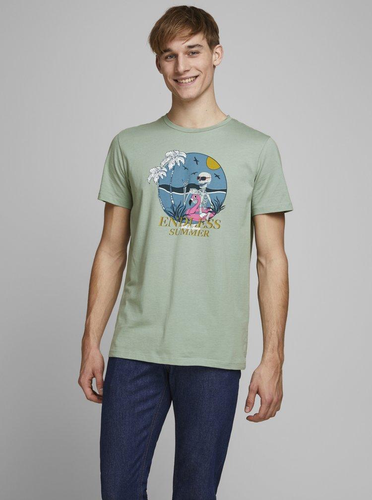 Zelené tričko Jack & Jones Niket